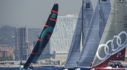 BARCELONA, SPAIN. 2012. Day one of TP52 Superseries on May 25, 2012 in Barcelona, Spain (photo by Xaume Olleros/52 Super Series)