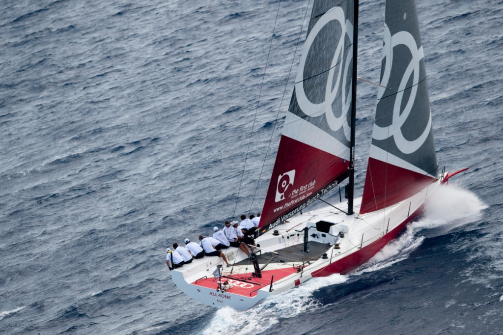 Audi Sailing Team powered by All4One at the Royal Cup regatta in the 52 Super Series