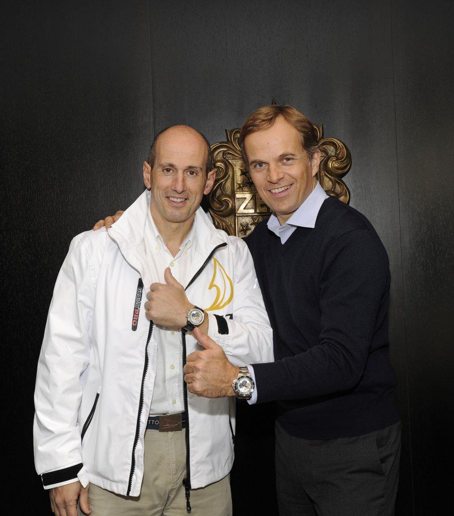 52 SUPER SERIES CEO Agustin Zulueta and Zenith's President and CEO Jean-Frédéric Dufour